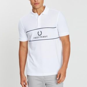 Fred Perry Panel Piped Pique Shirt